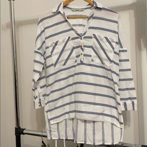 Zara | Oversized Striped Shirt
